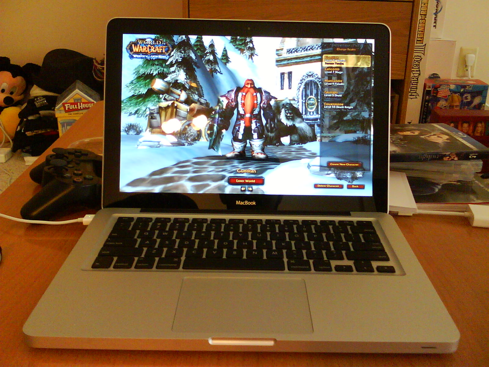 MacBook out of box with WoW running